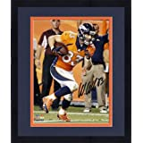 Framed Wes Welker Denver Broncos Autographed 8'' x 10'' Vertical with Ball Photograph -... by