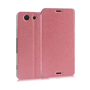 Heartly Premium PU Leather Flip Stand Case For Sony Xperia Z3 Compact (Pink)