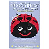 M C G Textiles Huggables LadyBug Pillow Latch Hook Kit
