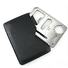 HuaYang Outdoor Multi function Mini Emergency Survival Credit Card Knife camping Tool 11 in 1 by HuaYang