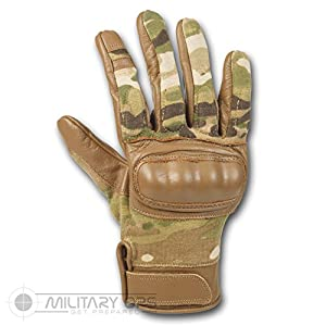 Tactical Hard Knuckle Gloves MTP Multicam by Alpha Tactical