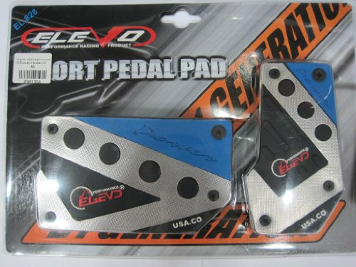 Elevo - Jet Blue Racing Pedal Covers Automatic , Pedal Set in Automotive