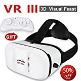 Upgraded 3D Vr Movie Visor Version Virtual Reality Glasses Innovative Design For Android PC phones Series Within 4.0-5.9 Inches