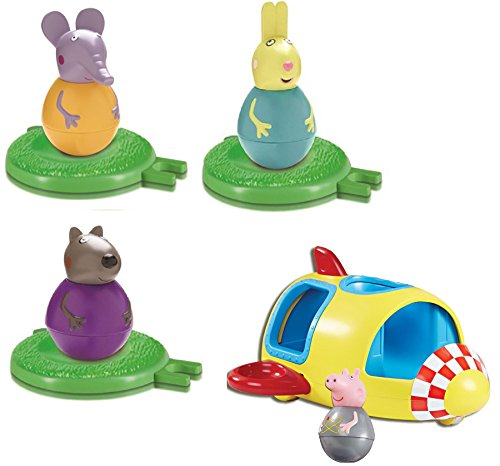 PEPPA PIG BUNDLE - WEEBLES ROCKIN' ROCKET, REBECCA RABBIT WEEBLES, DANNY DOG WEEBLES AND EMILY ELEPHANT WEEBLES - 4 ITEMS SUPPLIED (Dispatched From UK)