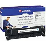 Verbatim HP CE411A Remanufactured Toner Cartridge for Color LaserJet HP M351, M375, M475, M451, Cyan 98469