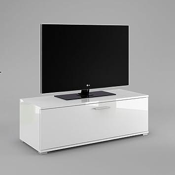 Mueble para televisor cómoda TV2 tablero de la mesa de armario de muebles de cuerpo de colour: de colour blanco mate de la parte delantera de: de colour blanco de alto brillo