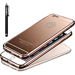 iPhone 6S Case, iPhone 6S Slim Case, TabPow [Electroplating Series] Luxury Hard Back Case Cover Bumper [Mirror Finish] For Apple iPhone 6S (4.7 inch) (Rose Gold)