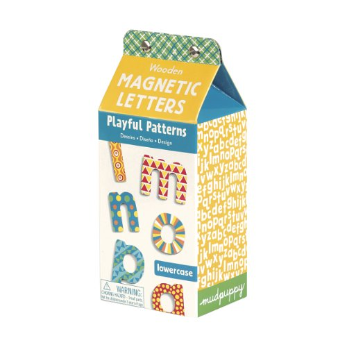 Mudpuppy Playful Patterns Lowercase Letters Wooden Magnetic Set - 1