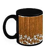 Christmas Gifts HomeSoGood Amazing Christmas Drawing Black Ceramic Coffee Mug - 325 Ml