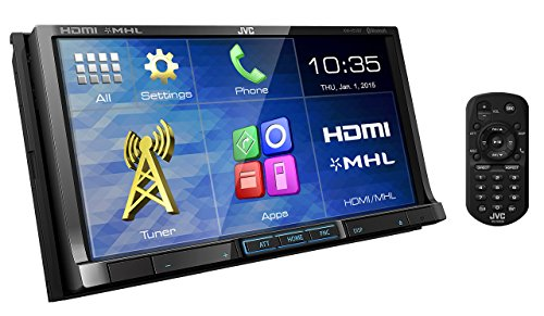 JVC KW-V51BT DVD/CD/USB Receiver with 7-inch WVGA Touch Panel Monitor HDMI Input and Built-in Bluetooth