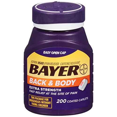 Bayer Extra Strength Bayer Back and Body Pain Caplets 500mg, 200 Count (Bayer Extra Strength compare prices)