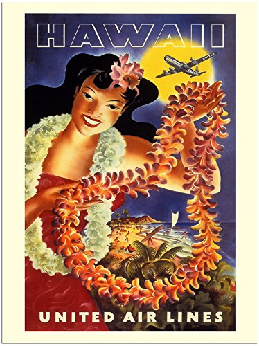 hawaii-united-airlines-travel-poster-1950s-30x40cm-art-print