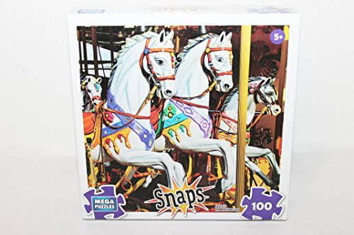 Mega Puzzles Snaps Traditional Carousel 100 Piece Jigsaw Puzzle