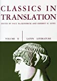 Classics in Translation (0299808963) by Howe, Herbert M.