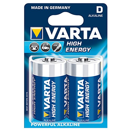 Varta - 4920121412 - High Energy Piles Alcalines - pack de 2 piles D LR20 - Lot de 2