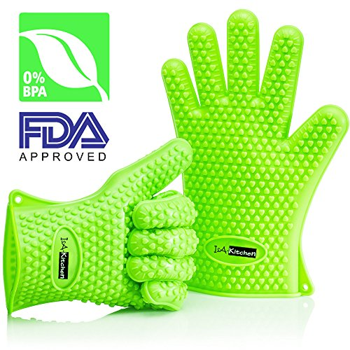 isa-kitchen-silicone-heat-resistant-bbq-grill-oven-gloves-neon-green