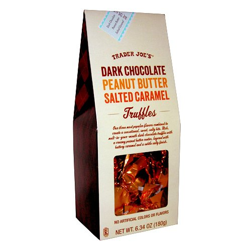 Trader Joes Dark Chocolate Peanut Butter Salted Caramel Truffles (Trader Joes Truffle Salt compare prices)