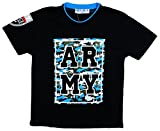 Boy's Trendy Army Camo Logo T-Shirt Top Tee sizes from 2 to 12 Years