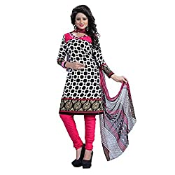 Shree Hari Creation Women's Poly Cotton Unstitched Dress Material (245_Multi-Coloured_Free Size)