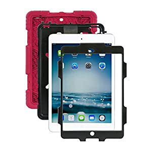 iPad Mini Case, Aceguarder iPad Mini 1\2\3 Case Silicone Protective Cover Case with Kickstand and Screen Protector for Kids by ACEGUARDER