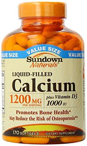 Sundown Naturals Calcium 1200 Plus Vitamin D3 1000 IU, 170 Liquid Filled Softgels (Sundown Vitamin C 1000 compare prices)