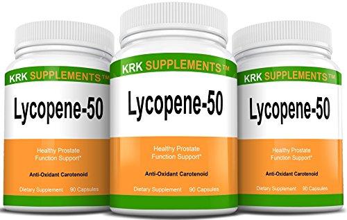 3 Bouteilles Lycopène 50mg 270 Capsules total