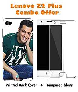 Lenovo Z2 Plus Printed Multicolor Hard Back Cover with Premium Tempered Glass Combo By Case Cover