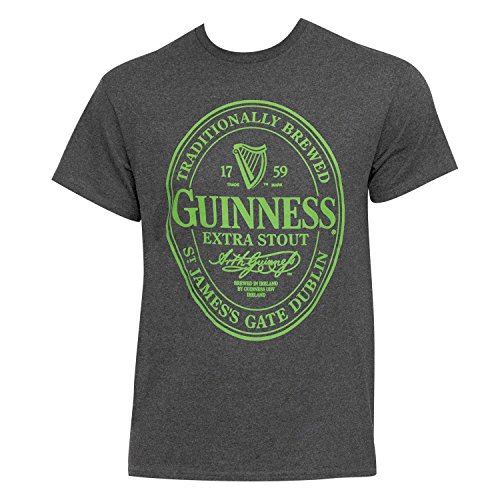 Guinness Green Logo Men's Grey Tee Shirt Medium (Guinness Beer Tshirt compare prices)