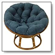 Rattan Papasan Cushioned Chair