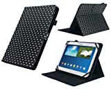 MiTAB Black & White Polka Dot Rotational Stand Case Cover For The Acer Iconia Tab A510 / Acer Iconia Tab A700 / Acer Iconia Tab A200 / A210 / A211 / Acer Iconia W500 /w510 / Acer Iconia W510 / W511 / Acer Iconia A3