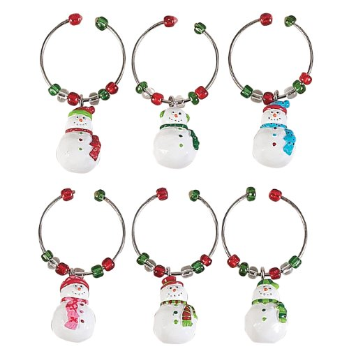 Boston Warehouse Let it Snow Wine Charms (Set of 6)