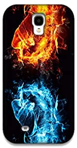 The Racoon Grip Flames hard plastic printed back case / cover for Samsung Galaxy S4