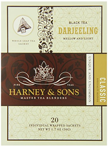 Harney And Sons Darjeeling Tea, 20 Count (Pack Of 6)