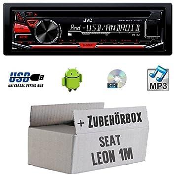SEAT LEON 1M-JVC KD r471e-Kit de montage autoradio CD/MP3/USB -