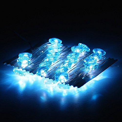 Addlon Blue Diamond Crystal Shape Starry Novelty String Lights with 9.8Ft(3m) 40Leds AA Battery ...