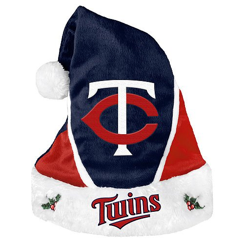 Minnesota Twins Santa Hat - Colorblock 2014 - Licensed MLB Baseball Gift