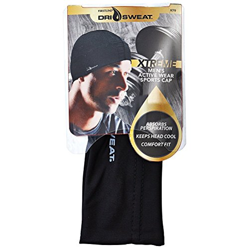 Dri Sweat Xtreme Men's Sports Cap, Black