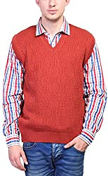 Priknit Men's Blended Sweater (SH-200-40 RED, Red, 40)