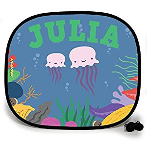 123t ANI-MATES UNDER THE SEA JELLYFISH DESIGN PERSONALISED Sunshade x 2