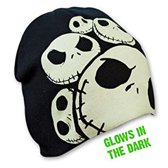 Nightmare Before Christmas Knit Beanie Glow-in-the-dark