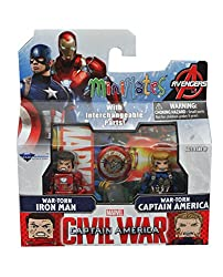 Minimates Captain America Civil War-War-Torn Iron Man & War-Torn Captain America