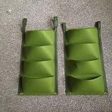 Outdoor Indoor Wall Herbs Vertical Garden Hanging Planter Bag Green (8 Pockets)