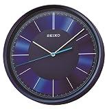 Seiko QXA612L Sweep Second Hand Aluminium Dial Clock, Blue