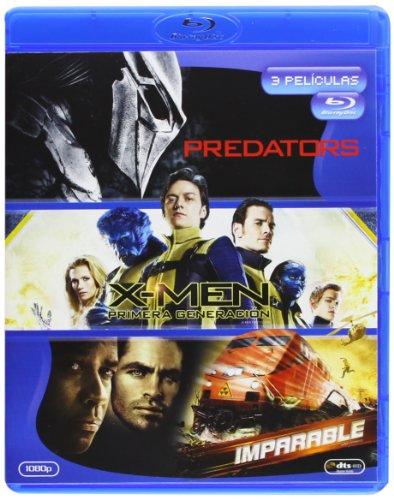 Predators + X-Men Primera Generación + Imparable [Blu-ray]