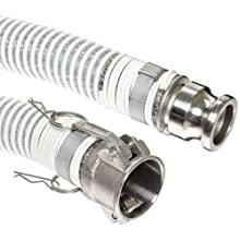 Unisource 1780 PVC Suction/Discharge Hose Assembly, Stainless Steel Cam And Groove Connection