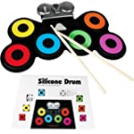 PORTABLE SILICONE DRUM KIT SET WITH D...