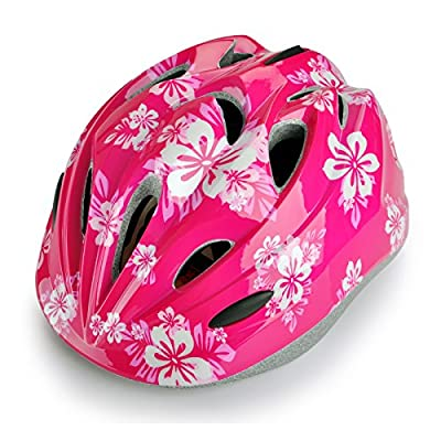 Children Cycle Helmets Pink Flower Helmet for Girls Size 46-56cm by Skyrocket