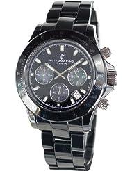 Mens Black Ceramic Chronograph Watch by Sottomarino SM90003-B