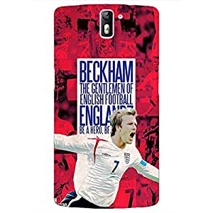 Jugaaduu Manchester United Beckham Back Cover Case For OnePlus One