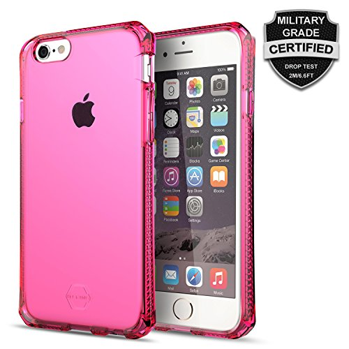 iPhone 6 Case / 6s Case, ItSkins® Spectrum Pink iPhone 6s / 6 Pink Case [Scratch Resistant] Military Grade Tested for Shock Absorbing Bumper for Apple iPhone 6 & iPhone 6s Bumper, Pink Back Panel TPU (Iphone 6 Cas Pink compare prices)